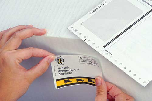 Packing Slip with Integrated Label